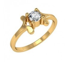 Diamond Designer Ring 0.14 CT / 2.57 gm Gold