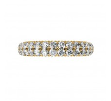 Natural Band 0.98 CT / 4.10 gm Gold