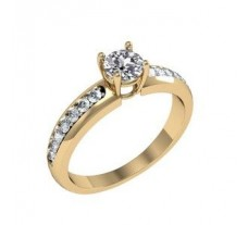Solitaire Ring 0.46 CT/5.10 gm Gold
