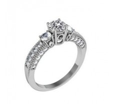 Diamond Solitaire Ring 0.78 CT / 4.90 gm Gold.