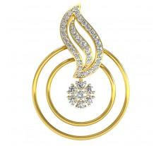 Natural Diamond Pendant 0.58CT / 3.00 gm Gold