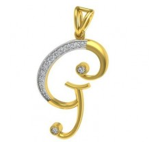 Natural Diamond Pendant 0.21 CT / 2.00 gm Gold