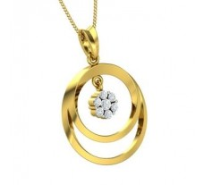 Natural Diamond Pendant 0.24 CT / 3.70 gm Gold