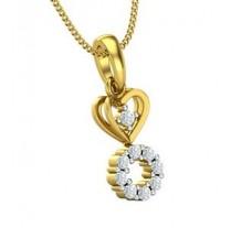 Natural Diamond Pendant 0.18 CT / 1.30 gm Gold