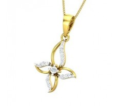 Diamond Pendant 0.20 CT / 1.60 gm Gold