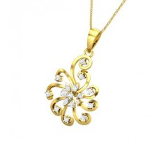Natural Diamond Pendant 0.31 CT / 3.10 gm Gold