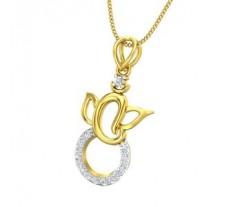Natural Diamond Pendant 0.22 CT / 1.60 gm Gold