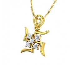 Natural Diamond Pendant 0.20 CT / 1.61 gm Gold
