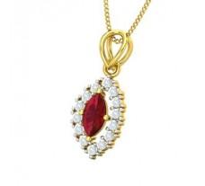 Natural Diamond & Gemstone Pendant 0.79 CT / 1.50 gm Gold