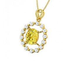Natural Diamond & Gemstone Pendant 2.81 CT / 2.49 gm Gold
