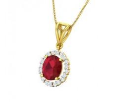 Natural Diamond & Gemstone Pendant 2.93 CT / 2.78 gm Gold