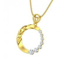 Natural Diamond Pendant 0.24 CT / 1.70 gm Gold
