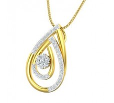 Natural Diamond Pendant 0.35 CT / 2.45 gm Gold