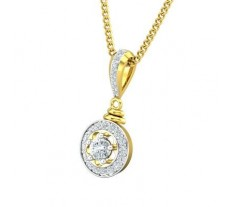 Natural Diamond Pendant 0.31 CT / 1.10 gm Gold