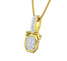 Natural Diamond Pendant 0.16 CT / 0.96 gm Gold