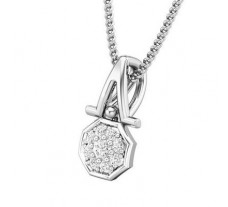 Natural Diamond Pendant 0.07 CT / 0.55 gm Gold