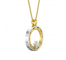 Natural Diamond Pendant 0.08 CT / 2.32 gm Gold