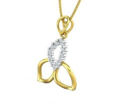 Natural Diamond Pendant 0.17 CT / 1.30 gm Gold