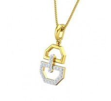 Natural Diamond Pendant 0.17 CT / 1.49 gm Gold