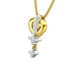 Natural Diamond Pendant 0.10 CT / 0.81 gm Gold