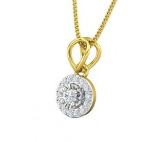 Natural Diamond Pendant 0.18 CT / 0.95 gm Gold