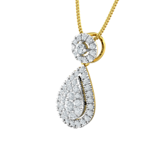 Natural Diamond Pendant 0.59 CT / 1.75 gm Gold