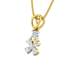 Natural Diamond Pendant 0.19 CT / 0.76 gm Gold