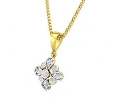 Natural Diamond Pendant 0.13 CT / 1.25 gm Gold