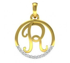 Natural Diamond Pendant 0.08 CT / 1.90 gm Gold