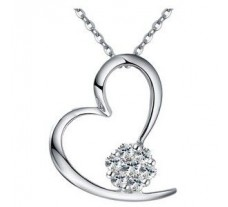 Natural Diamond Heart Pendant 0.24 CT / 1.75 gm Gold