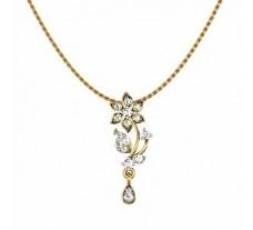 Natural Diamond Pendant 0.21 CT / 1.80 gm Gold