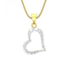Natural Diamond Heart Pendant 0.12 CT / 1.20 gm Gold