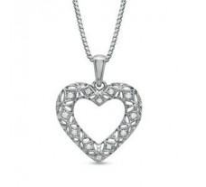 Natural Diamond Heart Pendant 0.16 CT / 3.00 gm Gold