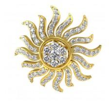Natural Diamond Pendant 0.73 CT / 3.00 gm Gold