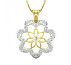 Natural Diamond Pendant 0.61 CT / 3.50 gm Gold