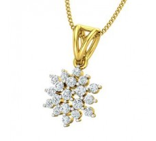 Natural Diamond Pendant 0.415 CT / 1.60 gm Gold