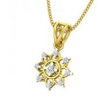 Natural Diamond Pendant 0.146 CT / 1.30 gm Gold