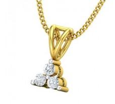 Natural Diamond Pendant 0.07 CT / 0.45 gm Gold