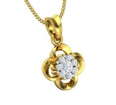 Natural Diamond Pendant 0.20 CT / 1.55 gm Gold