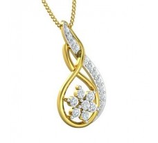 Natural Diamond Pendant 0.278 CT / 1.31 gm Gold