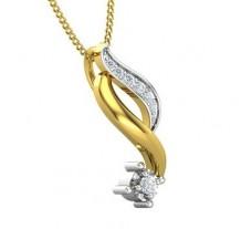 Natural Diamond Pendant 0.07 CT / 1.50 gm Gold