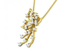 Natural Diamond Pendant 0.33 CT / 2.30 gm Gold
