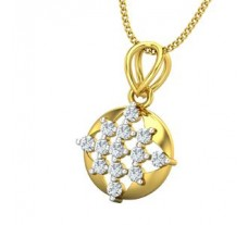 Natural Diamond Pendant 0.26 CT / 1.30 gm Gold