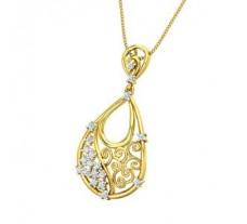 Natural Diamond Pendant 0.32 CT / 3.80 gm Gold