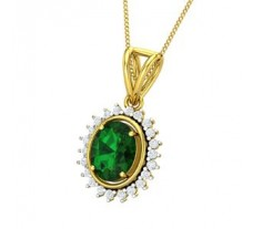 Natural Diamond & Gemstone Pendant 2.86 CT / 3.38 gm Gold