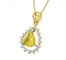 Natural Diamond & Gemstone Pendant 1.51 CT / 1.75 gm Gold