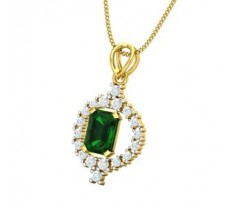 Natural Diamond & Gemstone Pendant 1.57 CT / 2.56 gm Gold