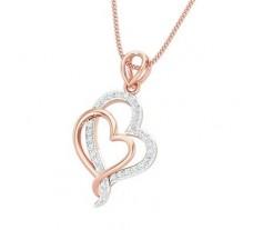 Natural Diamond Heart Pendant 0.23 CT / 1.60 gm Gold