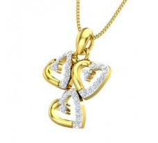 Natural Diamond Heart Pendant 0.27 CT / 2.00 gm Gold