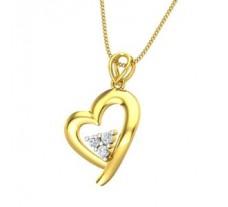 Natural Diamond Heart Pendant 0.15 CT / 1.60 gm Gold